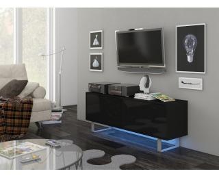 TV stolík King KIN-01 - čierna / čierny lesk