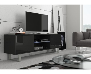 TV stolík King KIN-02 - čierna / čierny lesk