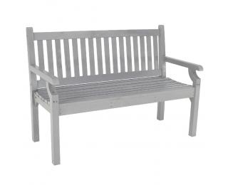 Drevená záhradná lavička Kolna 124 cm - sivá
