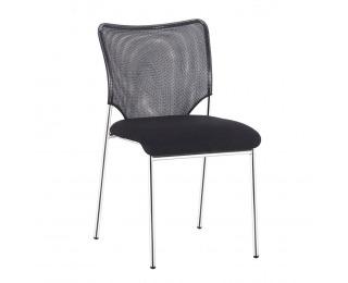 Konferenčná stolička Altan - čierna / chróm