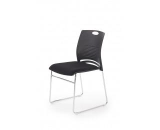 Konferenčná stolička Cali - čierna / chróm