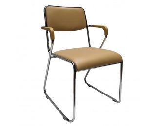 Konferenčná stolička Derya - hnedá