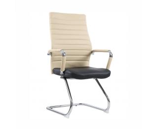 Konferenčná stolička Drugi Typ 2 - béžová / čierna