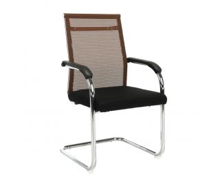 Konferenčná stolička Esin - hnedá / čierna