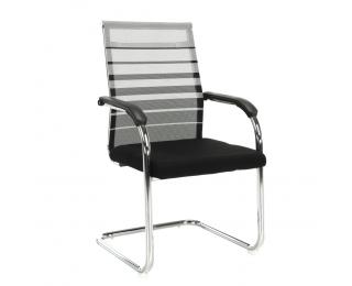 Konferenčná stolička Esin - sivá / čierna