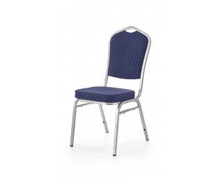 Konferenčná stolička K68 - modrá / strieborná