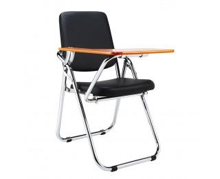 Konferenčná stolička s doskou na písanie Soner - čierna / prírodná
