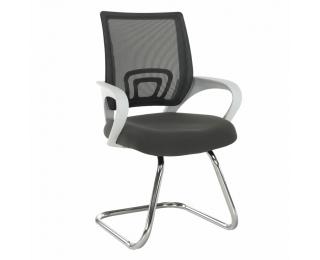 Konferenčná stolička Sanaz Typ 3 - sivá / biela