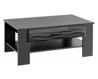 Konferenčný stolík Blade 4 - čierna / sahara lesk