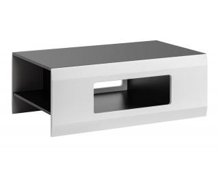 Konferenčný stolík Clif - grafit / biela