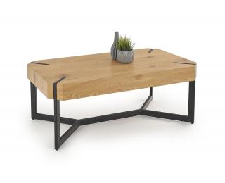 Konferenčný stolík Lavida - dub zlatý / čierna
