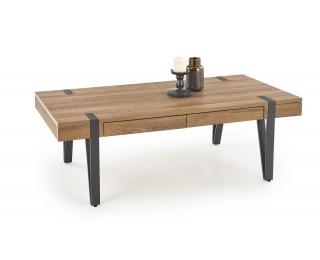 Konferenčný stolík Tuluza - orech medový / čierna