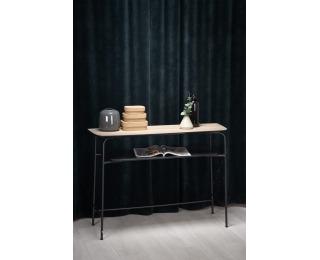 Konzolový stolík Genua KN1 - prírodná / čierna