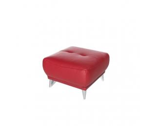 Kožená taburetka Melesio - červená