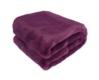 Kožušinová deka Rabita Typ 6 New 150x180 cm - fialová