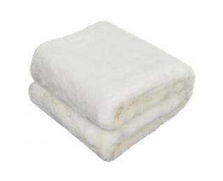 Kožušinová deka Rabita Typ 7 New 150x180 cm - biela