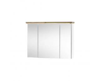 Kúpeľňová skrinka so zrkadlom Toskana - biela / dub artisan