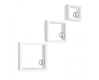 Poličky (3 ks) Kvadro New DR-WS-6103 - biela