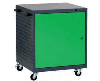 Mobilný kontajner k pracovnému stolu na kolieskach L1 - grafit / zelená