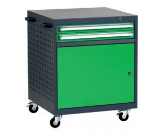 Mobilný kontajner k pracovnému stolu na kolieskach L2 - grafit / zelená