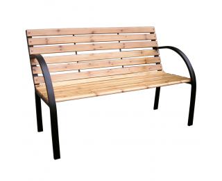 Záhradná lavička Lacea - čierna / prírodná