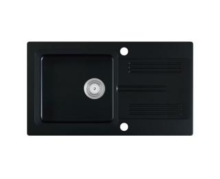 Granitový kuchynský drez Laneo 78x44 cm - čierna