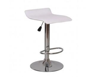 Barová stolička Laria New - biela / chróm