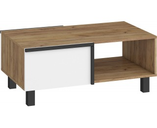 Konferenčný stolík Lars LAR-03 - craft zlatý / biela