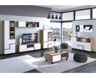 Obývacia izba Lars - craft zlatý / biela