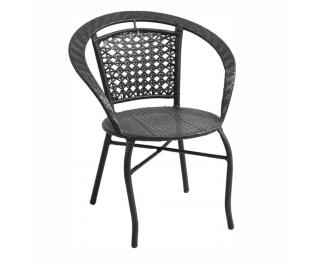 Záhradná stolička Lasan - hnedá