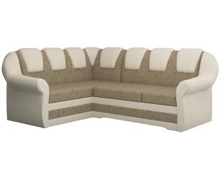 Rohová sedačka s rozkladom a úložným priestorom Latino II L - cappuccino / béžová