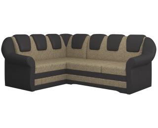 Rohová sedačka s rozkladom a úložným priestorom Latino II L - cappuccino / tmavohnedá