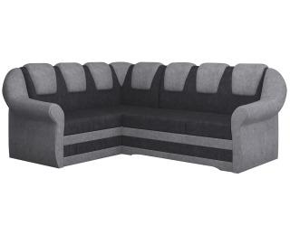 Rohová sedačka s rozkladom a úložným priestorom Latino II L - čierna / sivá
