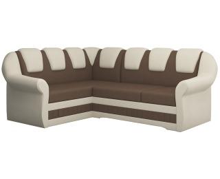 Rohová sedačka s rozkladom a úložným priestorom Latino II L - hnedá / béžová