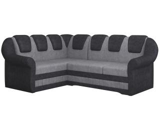 Rohová sedačka s rozkladom a úložným priestorom Latino II L - sivá / čierna