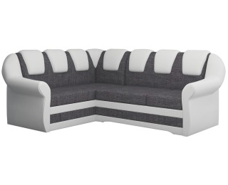 Rohová sedačka s rozkladom a úložným priestorom Latino II L - sivá / biela