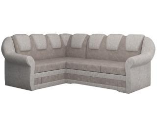 Rohová sedačka s rozkladom a úložným priestorom Latino II L - svetlohnedá / béžová