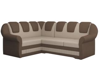 Rohová sedačka s rozkladom a úložným priestorom Latino II L - svetlohnedá / hnedá
