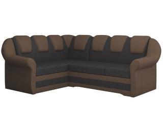 Rohová sedačka s rozkladom a úložným priestorom Latino II L - tmavohnedá / hnedá