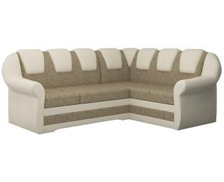 Rohová sedačka s rozkladom a úložným priestorom Latino II P - cappuccino / béžová
