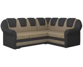 Rohová sedačka s rozkladom a úložným priestorom Latino II P - cappuccino / tmavohnedá