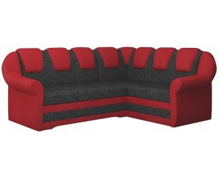 Rohová sedačka s rozkladom a úložným priestorom Latino II P - čierna / červená