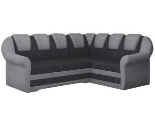 Rohová sedačka s rozkladom a úložným priestorom Latino II P - čierna / sivá