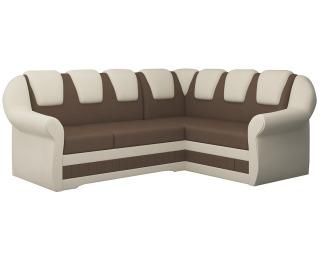 Rohová sedačka s rozkladom a úložným priestorom Latino II P - hnedá / béžová