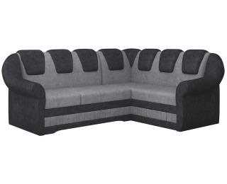 Rohová sedačka s rozkladom a úložným priestorom Latino II P - sivá / čierna