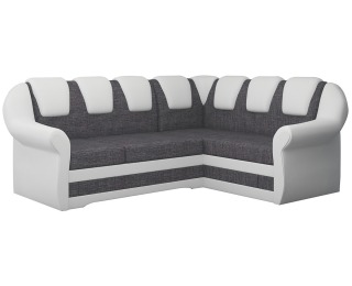 Rohová sedačka s rozkladom a úložným priestorom Latino II P - sivá / biela