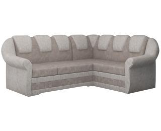 Rohová sedačka s rozkladom a úložným priestorom Latino II P - svetlohnedá / béžová