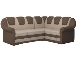 Rohová sedačka s rozkladom a úložným priestorom Latino II P - svetlohnedá / hnedá