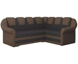 Rohová sedačka s rozkladom a úložným priestorom Latino II P - tmavohnedá / hnedá