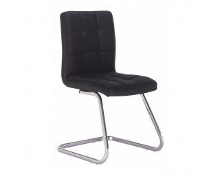 Jedálenská stolička Lavinia - čierna / chróm